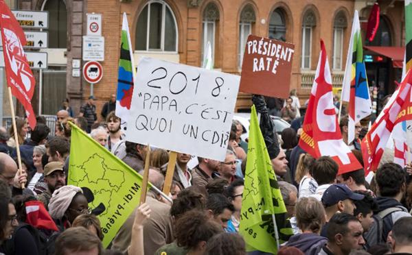 Macron à Toulouse: manifestation contre la baisse des APL et contre les ordonnance