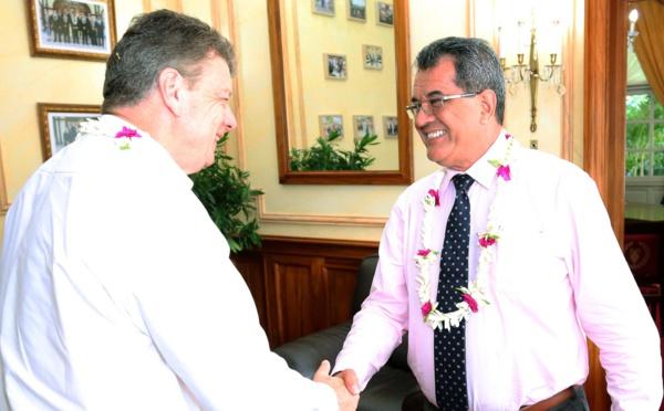 Le nouvel administrateur d'État des Australes reçu à la Présidence