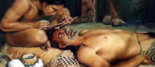Légende du tatouage qui remplaça les sacrifices humains