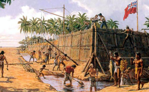 Arrivée de la Bounty à Tubuai