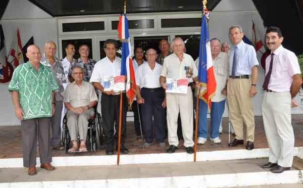 Conseil pour les anciens combattants et victimes de guerre et remise des diplômes d'honneur de porte-drapeau