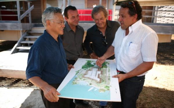 Pose de la première pierre du Tahiti Luxury Resort à Punaauia