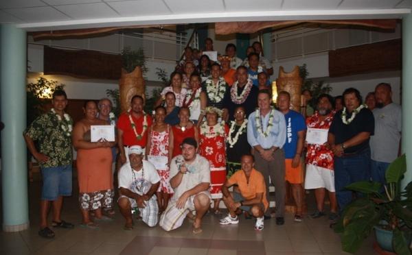 Réunion de la délégation ministérielle avec les présidents d'associations et le maire de Nuku-Hiva, monsieur Benoît Kautai