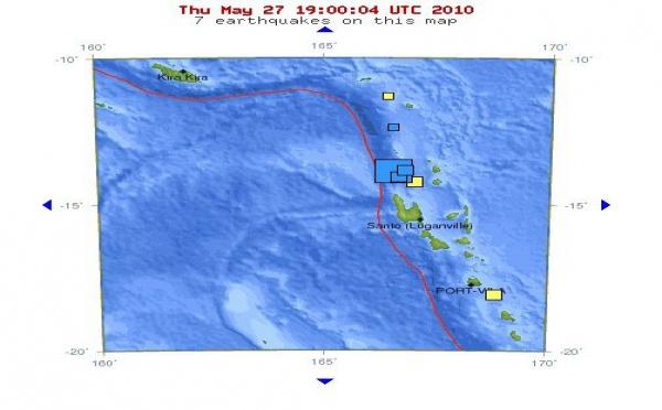 Séisme au Vanuatu, alerte au tsunami levée dans le Pacifique Sud