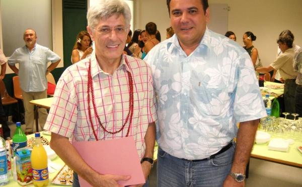 Départ à la retraite de M. Lombardini, directeur de l'école normale