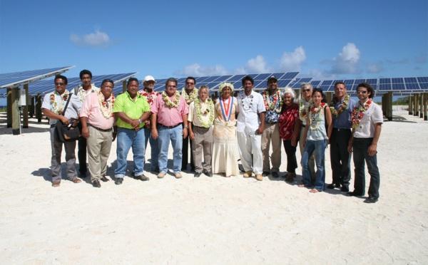 Inauguration à Ahe de la centrale hybride photovoltaïque la plus puissante au monde
