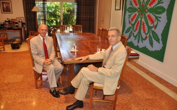 Visites officielles au Haut-commissariat de la République.