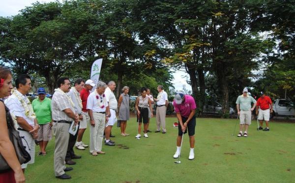 Coup d'envoi de La  27ème édition du Tahiti Golf Open  International ce matin à Atimaono