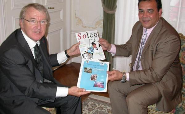 Moana Greig rencontre Jean Bertsch  de l'agence Europe Education et Formation France (A2E2F)