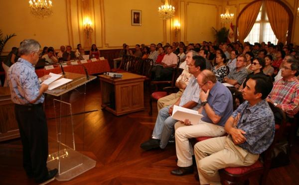 Présentation du rapport Bolliet aux chefs de service et directeurs d'établissements publics
