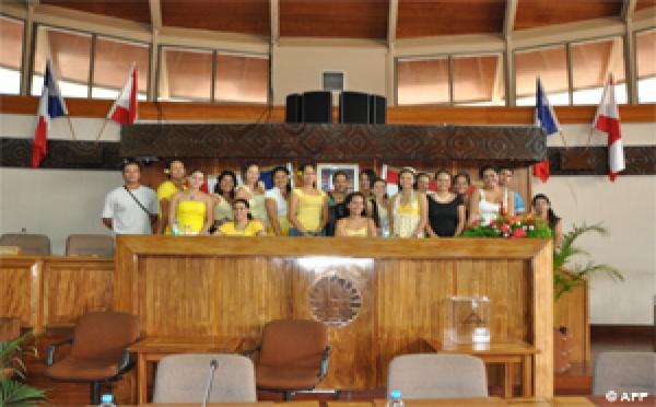 Visite de l'école normale à l'assemblée de la Polynésie Française
