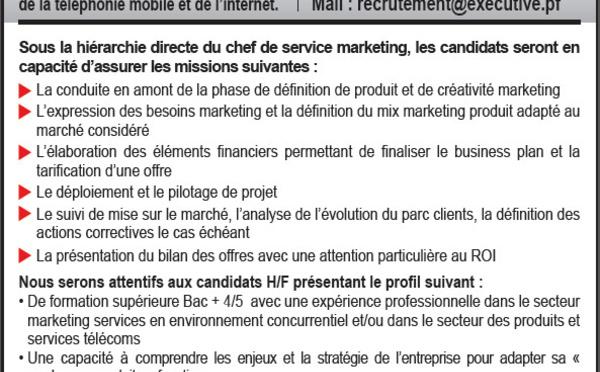 Offre d'emploi - Chefs de produit