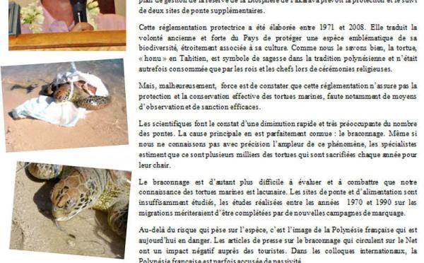 Premier symposium international sur les tortues marines en Polynésie française