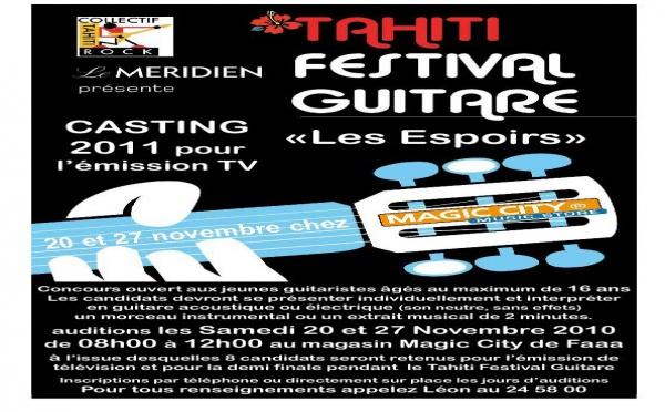 Casting du Collectif Tahiti Rock en vue du festival Guitare 2011