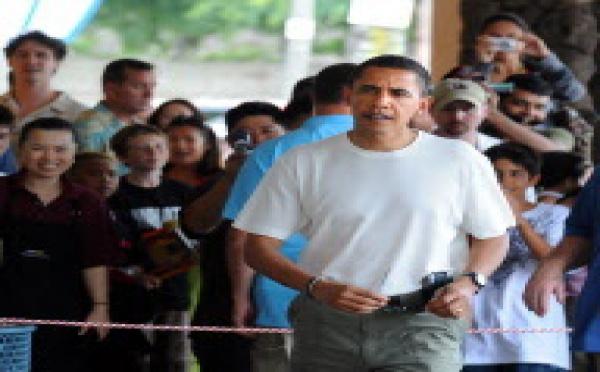 Obama arrive à Hawaii où il va passer la fin de l'année