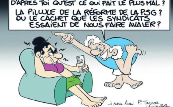 """"""" La réforme des retraites """" vu par Munoz"""