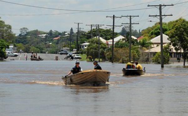 Inondations en Australie: l'eau monte encore, de nouveaux orages prévus