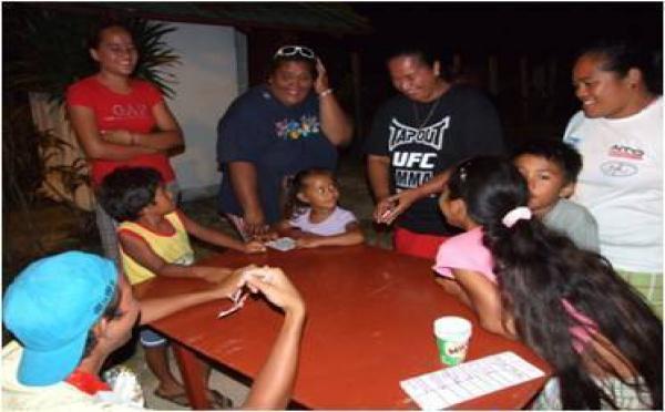 Camp de famille à Moorea
