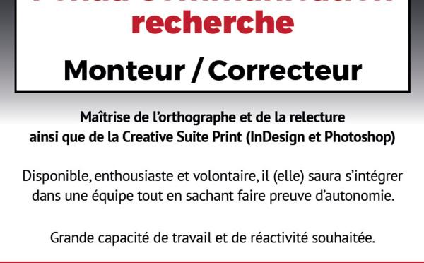Offre d'emploi - Monteur / Correcteur