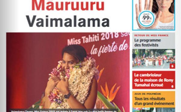TAHITI INFOS N° 1311 du 21 décembre 2018