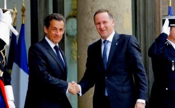 Le Premier ministre néo-zélandais a rencontré Nicolas Sarkozy et François Fillon à Paris