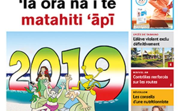 TAHITI INFOS N° 1315 du 31 décembre 2018