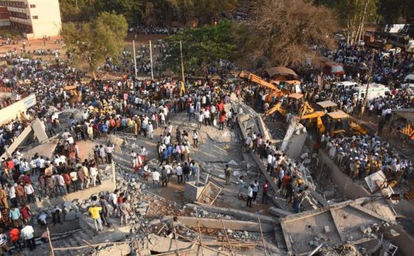 Inde: deux morts dans l'effondrement d'un bâtiment, nombreux disparus