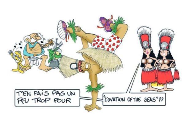 """"""" Le paquebot Ovation of the Seas au fenua """" par Munoz"""
