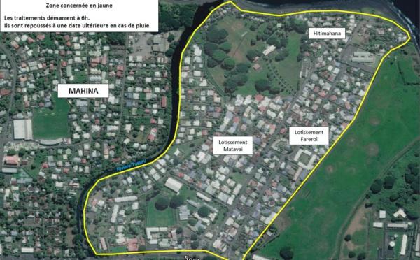 Dengue : nouvelles pulvérisations à Mahina vendredi