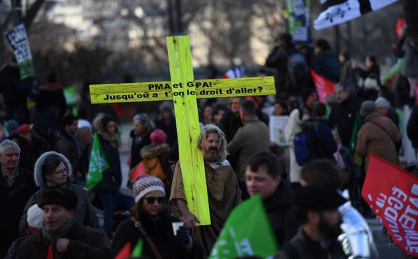 Contre la PMA, des dizaines de milliers de manifestants avant l'examen au Sénat