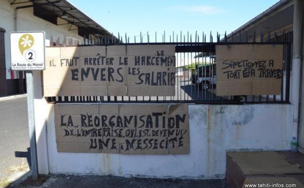 Grève à l'Huilerie de Tahiti : pas de travail, pas de paye