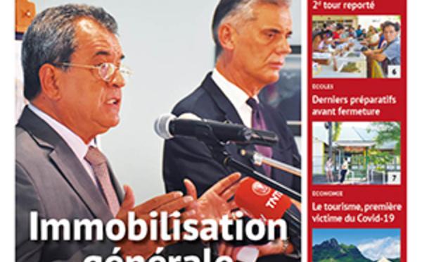 TAHITI INFOS N°1613 du 17 mars 2020