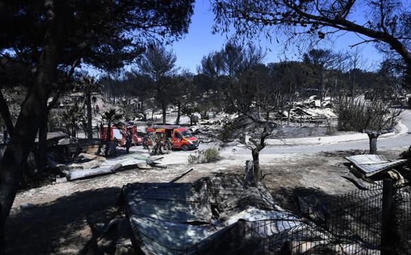 Incendie maîtrisé près de Marseille, scènes de désolation