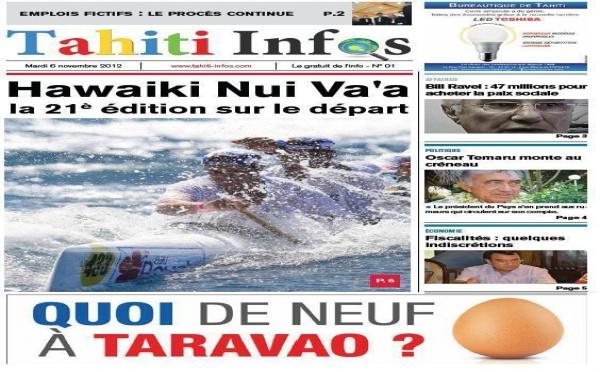 TAHITI INFOS N°1 du 6 novembre 2012