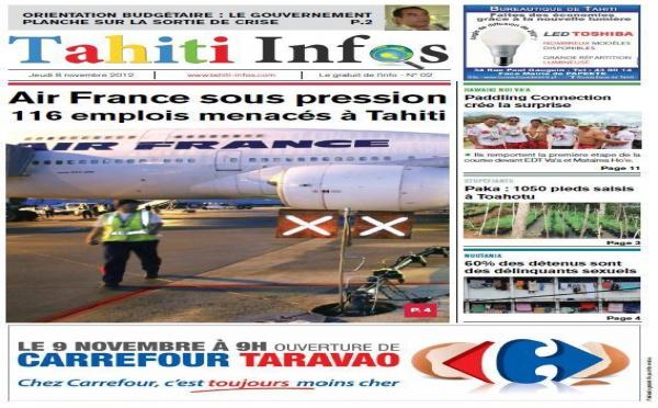 TAHITI INFOS N°2 du 8 Novembre 2012