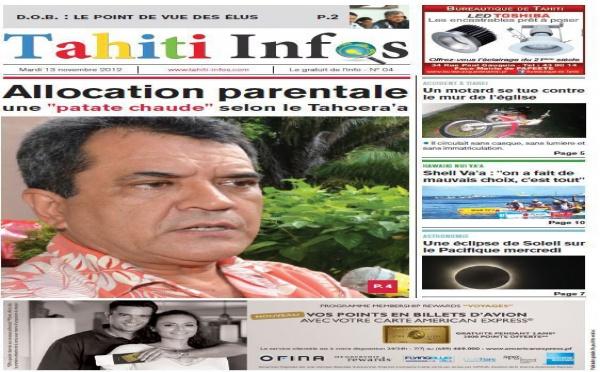 TAHITI INFOS N°4 du 13 novembre 2012