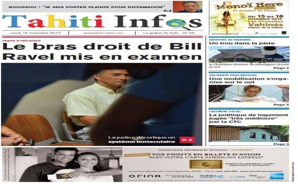TAHITI INFOS N° 5 du 15 novembre 2012