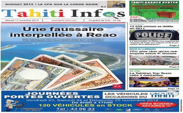 TAHITI INFOS N°6 du 17 novembre 2012