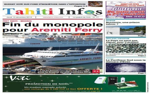 TAHITI INFOS N° 17 du 13 décembre 2012