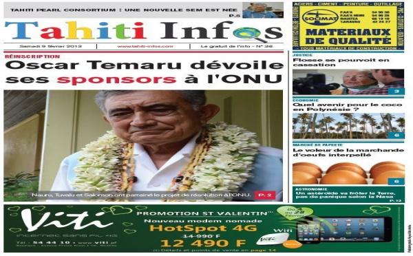 TAHITI INFOS N° 36 du 9 février