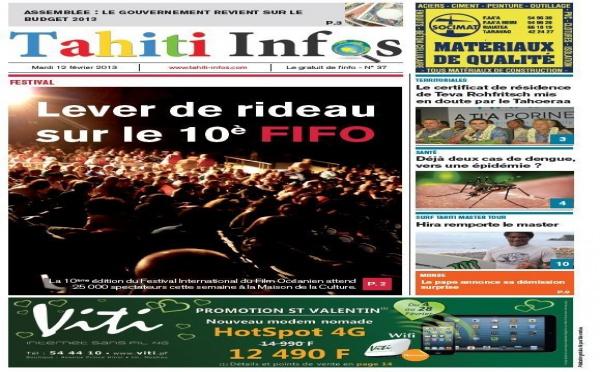 TAHITI INFOS N° 37 du 12 février 2013