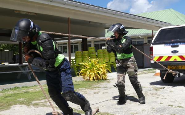 Cohésion police-gendarmerie à Rangiroa