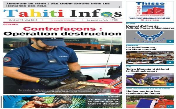 TAHITI INFOS N°88 du 12 juillet 2013