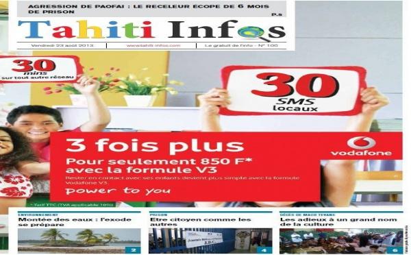 TAHITI INFOS N°100 du 22 Août 2013