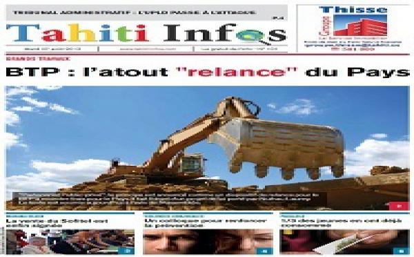 TAHITI INFOS N°101 du 27 août 2013