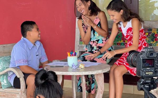 Page enfant : Le reo tahiti du quotidien avec Tama et Vai