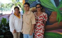 Sylvana Nordman et Danny Pittman, présidentes des associations Fatu Fenua no Makatea et Te Rupe no Makatea, s'organisent pour dénoncer le projet de reprise de l'exploitation de phosphate à Makatea.