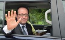 François Hollande, lors de sa visite officielle en Polynésie française, le 22 février 2016.