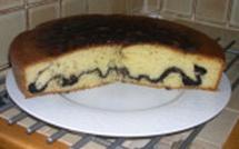 Gâteau au yaourt zébré chocolat