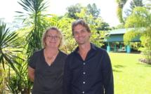 Benoît Picault, fondateurs des Cours Benoît et de la nouvelle école pour les élèves en marge du système scolaire classique et Claudine Zaghda, la présidente de l'association des parents d'enfants dyslexiques (APDYS), qui soutient le projet.
